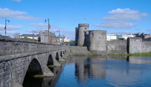 The well known Thomond Bridge  - with King John's Castle  - which was the scene of Saturday's terrible accident.