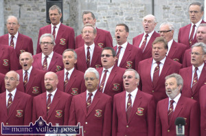 Members of the Dursley Male Voice Choir at the 'Slán Abhaile' free recital and barbeque on the grounds of Listowel Castle in 2010. ©Photograph: John Reidy 5-9-2010