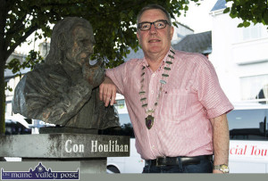 Killarney Municipal Area Mayor, Cllr. Bobby O'Connell will host a meeting of people and groups interested in promoting the proposed Con Houlihan Memorial Weekend in Castleisland on the coming Monday evening, August 10th at The Poet's Inn at 7-30pm. ©Photograph: John Reidy