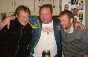 The late TJ O'Herlihy (left) enjoying precious moments with friends, Seamus Culhane and John O'Sullivan.