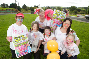 Getting ready for Abbeyfeale's first Colur Run in the town park which takes place on this Sunday, September 13th From left:  Joan Grady, Jodie Brosnan, Therese Brosnan, Katelyn Kennedy, Ben Brosnan, Caroline and Sarah Kennedy. Photograph: JDM Photography.ie