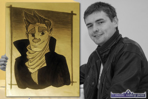 Hard-working, Castleisland cartoonist / illustrator, Jack Roche has just got the break he dreamed of with a college course in Game Art and Design in Clonmel. ©Photograph: John Reidy