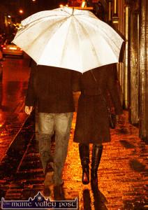 Keep the umbrellas on hand for the next few days - according to Met Éireann. ©Photograph: John Reidy