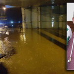 Manor Park Retail Complex Hit by Flooding