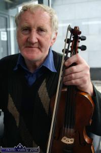 Paddy Jones, one of the surviving pupils of Patrick O'Keeffe. ©Photograph: John Reidy 13-5-2009