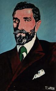 A portrait of Roger Casement painted by the late Castleisland artist, Tom Wren.