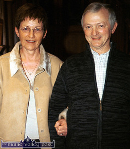 The late Jack O'Connor and his wife, Doreen pictured at the Scartaglin GAA Cub Social at the River Island Hotel, Castleisland in 2003.  ©Photograph: John Reidy 8-2-2003