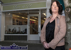 The late Eileen Horgan nee Fitzgerald outside her just opened Shoes4U shop at Upper Main Street in November 2013. ©Photograph: John Reidy 29/11/2013