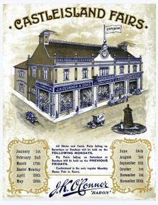 The cover of a J.K.O'Connor calendar which listed Castleisland's many annual fairs.