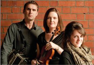 Paudie O'Connor and  Aoife Ní Chaoimh with  Nell Ní Chróinín - all Scartaglin bound on Saturday night.