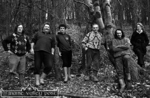 Preparing the Way: from left: John Houlihan, John Paul Fitzgerald, James O'Connor, Willie Reidy, John Lenihan  and Joanne O'Sullivan, Rural Social Scheme Supervisor. ©Photograph: John Reidy  18/02/2009