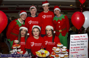 Extracurricular activities: Castleisland Community College students at their bakery stall in aid of the Irish Heart Foundation at the Castleisland Christmas Craft Fair at the River Island Hotel on Saturday. Included are: Kayla Whooley, Róisín Casey and Cara Twomey. Back from left: David Riordan, Jason Browne, Thomas Murphy and Jack Lynch. ©Photograph: John Reidy