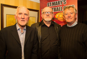Donal O'Connor, St Mary's; Murt Murphy  KABB and Ned O'Callaghan, founder member at the launch of the St Mary's Basketball Club,Basketball Blitz 2015 in the River Island Hotel, Castleisland on Sunday night. Photograph: Joe Hanley