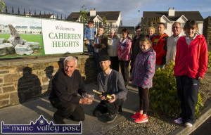 Residents' association members gathering to celebrate the completion of the renewal works at Cahereen Heights last May. Included are: Charlie Farrelly, Bernard Harmon, Rebecca Reidy and Jennifer Murphy. Back from left: Billy and Eamonn Moriarty, Jane Reece, Mary Conway, Tess Murphy, Margaret O'Mahony, Peter Michno and Pat Hartnett. ©Photograph: John Reidy 14-5-2015