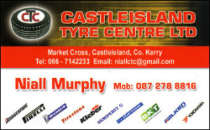 Click on the advert to see the full range of services at Castleisland Tyre Centre.