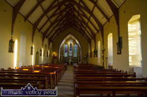 The welcoming interior of the Church of the Immaculate Conception, Cordal on all Saints Day 2015. Photograph: John Reidy