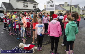 2015: Runners and joggers gathering for the 11am start of the annual Run Rudolph Run / An Riocht AC 5K in Castleisland on 13-12-2015. ©Photograph: John Reidy