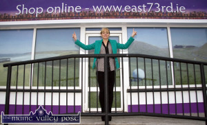 Entrepreneur, Sarah Blake pictured outside her Ballybunion based East 73rd store before it opened in April 2014. © Photograph: John Reidy