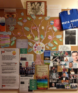 The Mental Health Awareness Notice Board designed by the Third year students of St. Patrick's Secondary School displaying positive messages throughout the year.