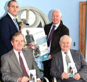 At the launch of  'It Makes Sense' - the Pilot Personal Micro Credit Project loan were front: Jerry Doyle Kerry MABS Co-Ordinator (left) and Christy Lynch South West Regional President St Vincent de Paul. Back:  Mark Murphy CEO Killarney Credit Union (left) and Fintan Ryan CEO Tralee Credit Union.