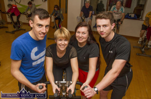 Meet your An Ríocht AC Programme administrators/ fitness trainers from left: Eoghan Courtney, Tara Walmsley, Maggie O'Sullivan and Cian O'Connor. ©Photograph: John Reidy