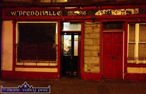 The last night of commercial light from Sheila Prendiville's Bar and Grocery as the business wound up there on Friday night. Photo by John Reidy 11-7-2014