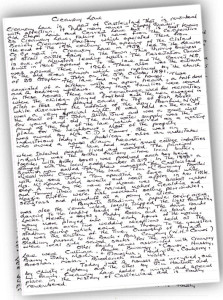 An example of 'The Master's' style of essay writing as he layed down the history of Creamery Lane.