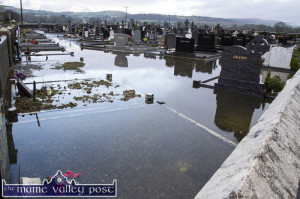 New year, old woes: Maher's side of Kilbanivane Cemetery under flood water again on Monday afternoon.  ©Photograph: John Reidy