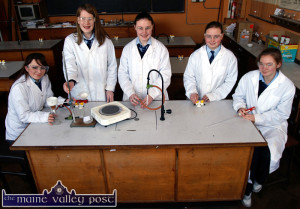 Young Scientists from a decade ago hard at work in the lab and St. Joseph's. from left: Róisín Daly, Eimear Herlihy, Muiríosa Healy, Ciara Daly and Tara O'Connor.  ©Photograph: John Reidy  9-2-2006