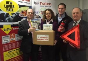 Tralee Credit Union's Lending Team with Jason Quirke, Top Part Kingdom Motor Factors from:  left Stephen Corner, Karen Delaney, Jason Quirke (Top Part) and Mike Lynch, Loans Officer.