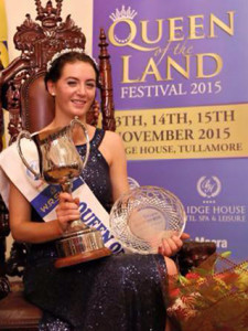 Christine Buckley of Killeentierna Macra na Feirme Club after she won the All-Ireland title at the WR Shaw Queen of the Land Festival in Tullamore last November.