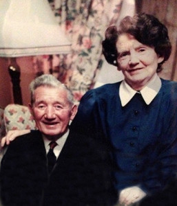 The late Mrs. Eileen McGillicuddy pictured with her late husband, Gene who predeceased her in June 1992.