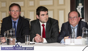 Arthur Spring, TD; Brendan Griffin, TD and Tom Fleming, TD at last night's 'Meet the Candidates' session at the River Island Hotel. ©Photograph: John Reidy