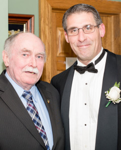 New elected Vice President of the New York Kerrymen's Association, John Fleming (right) pictured at the installation dinner last month with Pat O'Donnell - a past president of the association from Camp.