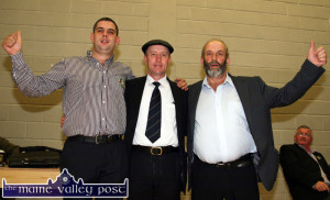 All for two: Johnny, Michael and Danny Healy Rae celebrate in their own quiet way after Johnny and Danny topped their respective polls in the local elections in May 2014. ©Photograph: John Reidy