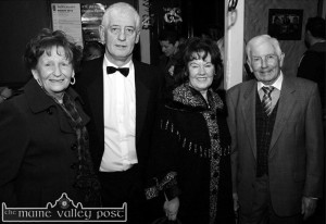 Founder members of the 1988 revived Kerry Drama Festival pictured at its 25th anniversary opening of the 2012 festival at the Ivy Leaf Art Centre. Included are: Nora Relihan, Listowel; Listowel native, Jerome Stack, Castleisland; Mary Murphy, Killarney and Oliver O'Neill, Listowel. ©Photograph: John Reidy  2-3-2012