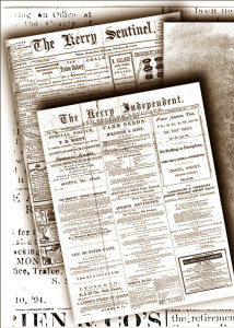 There is an increasing collection of old Kerry newspapers now on the Irish Newspaper Archive.