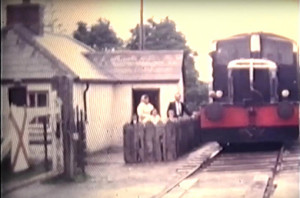 At Camp, Level Crossing outside Castleisland as the CIE Deutz G Class locomotive G611 hauling an IRRS 'Munster Area' diesel railtour from Tralee to the Gortatlea - Castleisland branch line, Co.Kerry, on Sunday 3rd September 1967. Filmed by the late Tony Price.