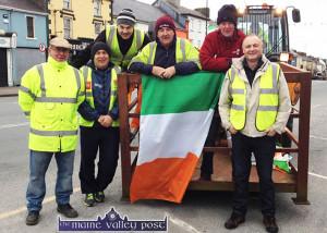 St. Patrick's Day Bunting Sunday morning 13-3-2016