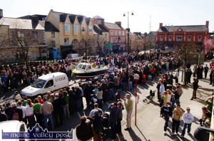 A typical St. Patrick's Day Parade turnout on one of the greatest days of the year in Castleisland as this scene from the 2009 parade clearly shows.  ©Photograph: John Reidy 17-3-2009