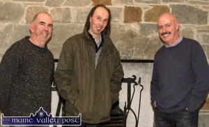 The Handed Down team. PJ Teahan (left) pictured with Mick Culloty and Tomás Mac Uileagóid are planning their Saturday, March 19th Handed Down programme for Scartaglin heritage Centre. ©Photograph: John Reidy