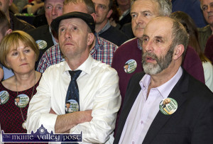 The night of the Long Count: TDs in Waiting, Michael and Danny Healy Rae waiting for the announcement of Michael's election at the recent counti in Killarney. ©Photograph: John Reidy