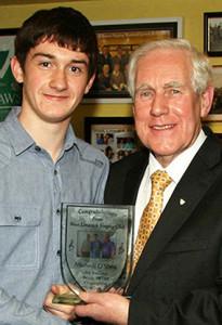 2012 All-Ireland singing champion, Micheál Ó Sé pictured with Senator Labhrás Ó Murchú, Director-General of Comhaltas Ceoltóirí Éireann. ©Photograph: John Reidy