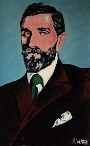 Roger Casement - a portrait of the 1916 hero by the late Desmonds Avenue, Castleisland artist, Tom Wren.