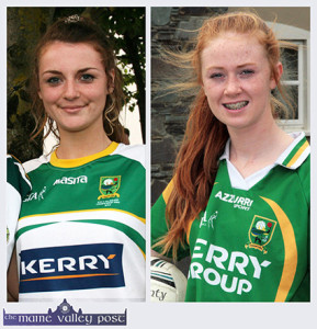 Goal scorer, Labhaoise Walmsley  (left) and Kayla O'Connor who are on the Kerry U-16 A Ladies Football team which defeated Cork last weekend. ©Photographs: John Reidy