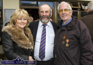 Danny Healy Rae, TD pictured with Ellen Lynch and John O'Donoghue at the Easter commemoration in Castleisland. ©Photograph: John Reidy