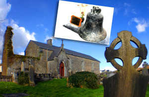 The former St. Stephen's Church now the Ivy Leaf Art Centre and inset, a photograph of the bell by Timothy Murphy.