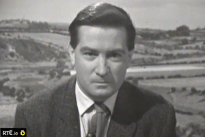 The late Justin Keating during his Telifís Feirme days from 1965 to '67.