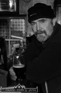 The late Moss Reidy, Cordal enjoying a pint in Sheila Prendiville's after a day's work. ©Photograph: John Reidy 1-3-2003