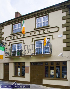 Tri-colour bedecked and ready for Sunday evening's commemorations. ©Photograph: John Reidy